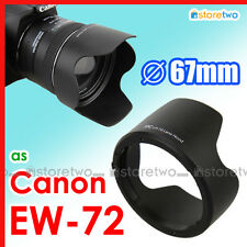 EW-72 Lens Hood Tulip Shade for Canon EF 35mm f/2.0 IS USM 67mm Filter Thread