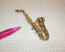 Miniature Heidi Ott Metal Saxophone for DOLLHOUSE Miniatures 1/12 Scale