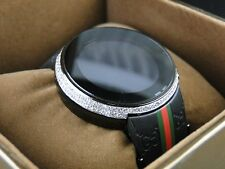 Mens Custom Digital Gucci I-Gucci 2 Row White Diamond Watch YA114207