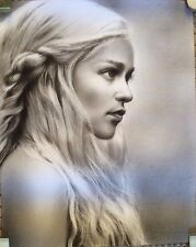 "Game of Thrones Daenerys Targaryen ART CHARCOAL DRAWING 8X10"" ORIGINAL"