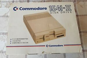 COMMODORE 1541-II Floppy Disk Drive In original styrofoam box, Extremely Rare!