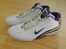 Nike Flight Max Air Basketball Shoes White Purple - Size Men 13.5