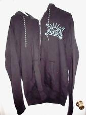 AEROPOSTALE Hoodie MEDIUM Men So Cal California Black Zip Front Jacket Coat