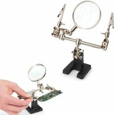 1 Helping Hand Soldering Adjustable Stand 2.5X Magnifier Magnifying Glass Lens !