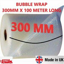 More details for 300mm x 100m small bubble wrap cushioning quality bubble 100 meters long roll