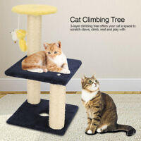 """3 Layer 15.7"""" Cat Tree Play Toy Furniture Kitten Pet House Scratching Post Board"""