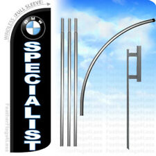 Bmw Specialist - Windless Swooper Flag 15' Kit Feather Banner Sign - kq