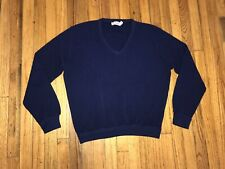Vintage LaCoste Sweater Navy Blue Pullover Men's Size Xl Long Sleeve