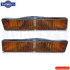 81-88 Cutlass Front Bumper Parking Marker Turn Light Lamp Lens AMBER - Pr. Repro