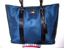 Michael Kors Navy Blue Light Nylon Travel Weekender Luggage Tote Bag NWT $298