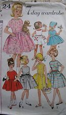 VINTAGE Girl Sewing Pattern semplicità 4924 Abito Gonna COFANO 1950 S 1960 S