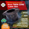 TWIN CORE 4MM 30M WIRE CABLE BATTERY 22A TRAILER AUTOMOTIVE 12/24V TWIN SHEATH