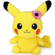 "SALE! Sekiguchi Pokemon Go Moko Moko  9"" Fluffy Pikachu Female Plush Doll"