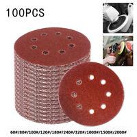5in 60-2000 Grit Hook Loop Pads Sanding Disc Orbital Sandpaper Sheet Sander