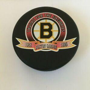 Boston Bruins Thanks For the Memories Boston Garden 1995 Hockey Puck