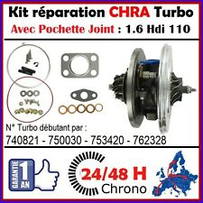 24H00 CHRA TURBO PEUGEOT 308 1.6 HDI 110 DV6ATED4 Cartouche Core Turbocharger