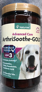 Naturvet ArthriSoothe-GOLD Level 3, Advanced Care Dogs Tablets 120Count Exp 5/24