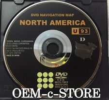 2011 2012 Toyota Tundra Navigation DVD U93 Map U.S Can.