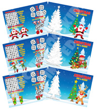 Pack of 12 - Christmas Fun and Games Activity Sheets - Party Bag Books Fillers