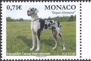 Monaco 2017 German Mastiff/Dogs/Dog Show/Nature/Animals/Pets 1v (mc1120)