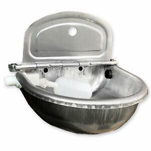 Stainless Steel Water Trough Bowl Automatic Drinking Drinker Cow Pig Pony Farm