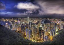 HONG KONG THE PEAK VIEW NEW A1 CANVAS GICLEE ART PRINT POSTER