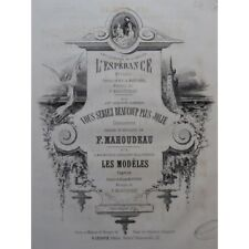 MAHOUDEAU F. Les Modèles Chant Piano ca1860 partition sheet music score