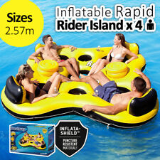 257CM BESTWAY Inflatable Rapid Rider x 4 Adults Island Lounger Float Pool Summer