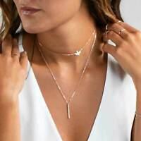 Stab doppel Kette Halskette gold silber Vogel Bird Tier Style Blogger