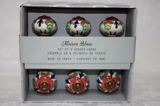 Maison Bleue Colorful Ceramic Cabinet Drawer Pull Knobs - Multi-Color - NEW S/6