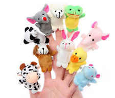10PCS Fingertip Animal Toy Puppets Fingerpuppen Fingertiere Handkasperletheater