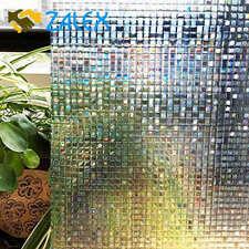 Decoration Static Cling Window Film Decorative Home Decor Privacy Glass 45 x 20