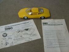 Lindberg 1980 Corvette GM's Experimental Car and instructions Built Aero Vette