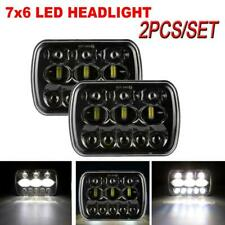 1Pair 5x7'' 7x6'' LED Headlight Hi-Lo Beam Halo DRL For Amber Turn Signal Light