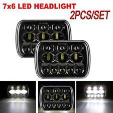1Pair 5x7'' 7x6'' LED Headlight Hi-Lo Beam Halo DRL For Amber Turn Signal Light