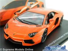 LAMBORGHINI AVENTADOR LP700-4 CAR MODEL 1:43 SIZE ORANGE IXO SUPER 2010 SPORTS T