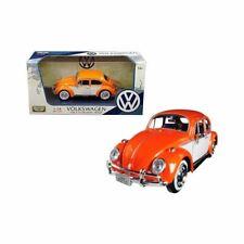 1 24 Scale 1966 Volkswagen Beetle VW Red With Roof Luggage Rack Motormax