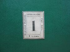 Hawaii 1859 - 1 cent - schwarz auf weiß - LAID paper - ungebraucht (Y240)