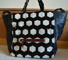 Pre-Loved JEROME DREYFUSS Multicolor Pony Hair Jacques Square Leather Tote