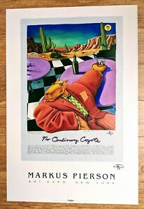 "Markus Pierson Poster — ""No Ordinary Coyote"" — SIGNED — MINT CONDITION"