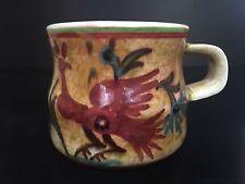 Hand Made Keramikos Greek Coffee Tea Mug Pottery Made in Athens Greece, Rooster