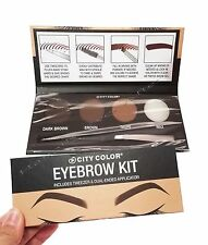 City Color EYEBROW KIT - w/ Tweezer & Dual-ended Applicator