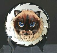 "Cats by Nina 8"" Nina Lyman Blue Eyed Cat Serving Bowl"