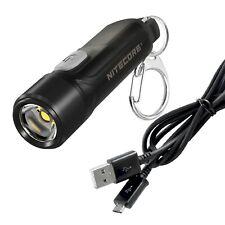 NITECORE TIKI LE 300 Lumen Keychain Flashlight Red/Blue LED + LumenTac USB Cable