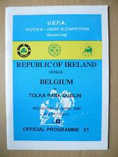 1990 UEFA Youths B Under 16 Competition: REPUBLIC OF IRELAND v BELGIUM, 4 April