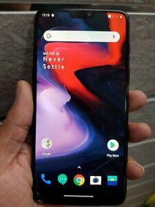 OnePlus 6 6.2 inch 64GB Dual-SIM Smartphone - Mirror Black (Unlocked)