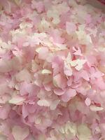 rosa confeti de boda Biodegradable ecológico Crema Corazones Mariposas Flor