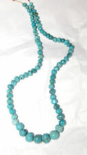 "HUBEI TURQUOISE GRADUATED OFF-ROUND NUGGET BEADS - 693B - 15.75"" Strand"