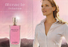 PUBLICITE ADVERTISING 114  2003  LANCOME  parfum MIRACLE INTENSE  ( 2p)
