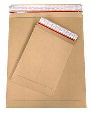 "Rigid Photo Shipping Stay Flat Cardboard Mailers 6"" x 8"" Tear Tab-28pt Brown 200"